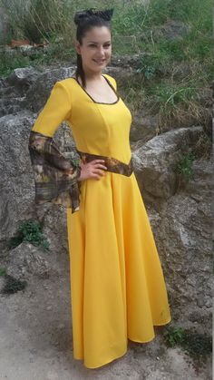Renaissance yellow dress medieval long dress/elven by dklea Medieval Dress, Yellow Dress, Renaissance, Cold Shoulder Dress, Outfit Ideas, Trending Outfits, Vintage, Etsy, Dresses