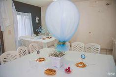Centros de mesa Baby shower azul
