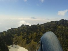 Beautiful place at summit mountaint sumbing (wonosobo, indonesia).