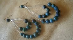 Here is a tutorial to make some turquoise earrings to match that braided turquoise necklace