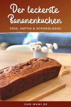 Juicy banana cake - the world's best recipe! Sweet banana bread like a . - Juicy banana cake – the world's best recipe! Sweet banana bread like a … – [Saftiger Banane - Keto Recipes, Cake Recipes, Dessert Recipes, World's Best Food, Good Food, Food Cakes, Yummy Cakes, Banana Bread, Nutritious Meals
