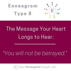 Each #Enneagram Type's heart longs to hear a particular message. When we were children, we strived and longed to hear this from our parents and others but it seemed to have never been said to the degree we longed for. The good news is that when we are IN Christ, we are given His righteousness. Because of this, He now says and fulfills the message we long to hear. He perfectly satisfies what is missing. He brings complete satisfaction to our weary hearts.