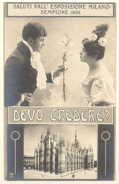 EXPO MILANO 1906. Cartolina di fantasia