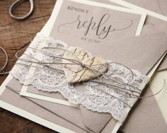 WEDDING INVITATIONS rustic
