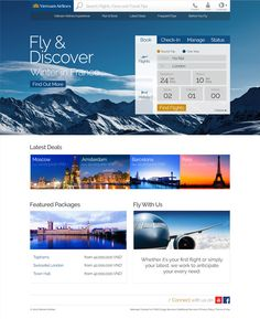 Vietnam Airlines Website Concept on Behance Creative Web Design, App Design, Travel Agency Website, Airline Booking, Vietnam Airlines, Website Design Inspiration, Travel And Tourism, Website Template, Traveling By Yourself