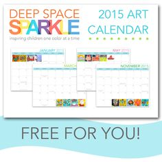 Free Downloadable Calendar for Art Teachers! Very cool.  Includes major holidays and artists' birthdays!