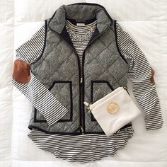 NWT - J Crew Herringbone Quilted Puffer Vest NEW WITH TAG - Classic J Crew Herringbone Vest - One of the most popular pieces of Fall/Winter Seasons - A Must Have - Sold out at J Crew J. Crew Jackets & Coats Vests