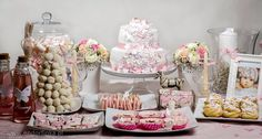 Sweet table for little girl christening party