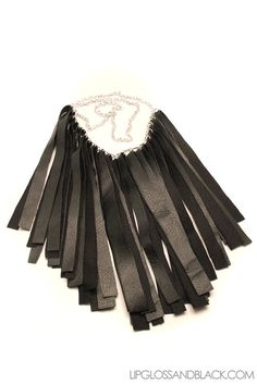 Fringe Leatherette Necklace by lipglossandblack on Etsy, $40.00