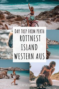 The PERFECT Day Trip to Rottnest Island from Perth, Western Australia to see the quokkas and beach hop all day! Head to Salmon Bay first on your bike! Australia Travel Guide, Australia Honeymoon, Australia Trip, Queensland Australia, Places To Travel, Places To Visit, Travel Guides, Travel Tips, Travel Abroad