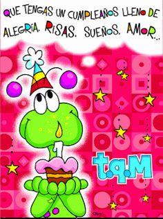 Que tengas un cumpleaños Birthday Greeting Cards, Happy Birthday Cards, Birthday Greetings, Birthday Images, Birthday Quotes, Birthday Wishes For Friend, Happy Birthday Celebration, Happy B Day, Positive Messages