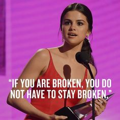 @mtv: Thank you, @selenagomez, for saying what we all needed to hear