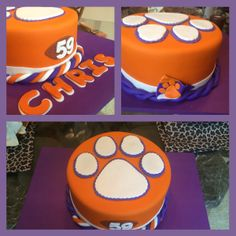 Clemson paw cake by Calories Worth Craving