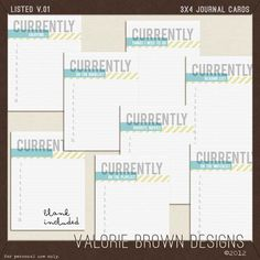 Currently...project life journal tags {free download}
