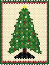 Christmas Tree Panel Beading Pattern from Looner Creation - Item Number 11459 at Bead-Patterns.com