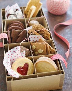 Sweet Paul Holiday Countdown: Day 19 - Cookie Gift Boxes - use vintage ornament boxes to gift cookies!