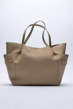 TOTE BAG WITH SIDE POCKETS | ZARA Belgium