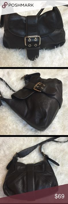 Furla leather purse / crossbody Authentic. This is a great buttery leather bag from Furla. It is a chocolate brown color with chrome hardware. Adjustable straps. Wear on shoulder, or even long enough to throw on as a crossbody. Looks really good-scratch on leather, & very thin white stripe on leather. See pic. Other then this, amazing. Very clean inside. Measures 12x9x1. Good medium size. No dust bag. Bundling is fun; check out my other items! No price talk in comments. No trades or holds…