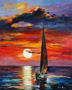 Towards the Sun - oil by ©Leonid Afremov (via deviantart)