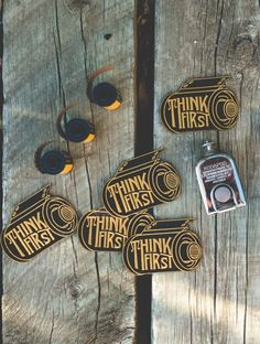 For PHOTOGRAPHER'S jacket or bag: Think First film embroidered patch.  #photography