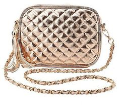 Metallic Quilted Crossbody Bag Sale for $11.39