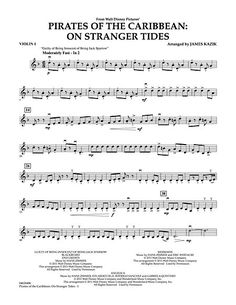 Pirates Of The Caribbean: On Stranger Tides - Violin 1