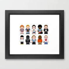 Pixel Pulp Fiction Characters Framed Art Print by PixelPower - $35.00 Pulp Fiction Characters, Cool Pixel Art, Framed Art Prints, Stitches, Minimal, Cross Stitch, Cool Stuff, Projects, Pattern