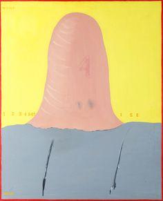 STANISŁAW FIJAŁKOWSKI (1922)  CZTERY, 1972   olej, płótno, / 100 x 81 cm