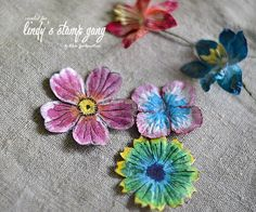 Lindy's Magical Paper Flower Coloring Techniques   Lindy's Stamp Gang