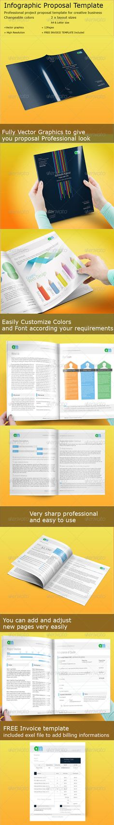 Infographic Ideas infographic proposal template : Corporate A4 Brochure Indesign Template | Templates, Brochures and ...