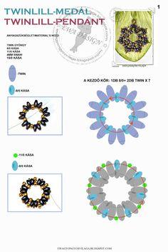 Tutorial: http://ewagyongyosvilaga.blogspot.com/2012/03/twinlill-medal-twinlill-pendant.html Készítette: Ewa (Itt a to...