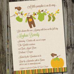 Little Pumpkin Printable Baby Shower Invitation by partymonkey, $15.00