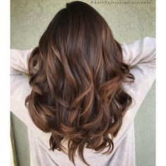 60 Chocolate Brown Hair Color Ideas for Brunettes ❤ liked on Polyvore featuring beauty products, haircare and hair color