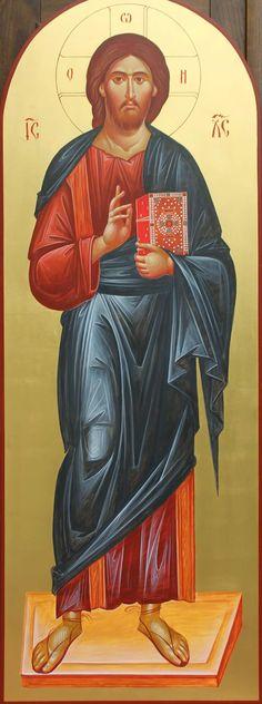 Icon of Christ the Teacher. Catholic Priest, Catholic Art, Christ Pantocrator, Greek Icons, Christian Artwork, Holy Family, I Icon, Jesus Christ, Christianity