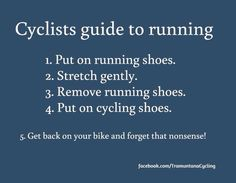 Cyclists guide to running