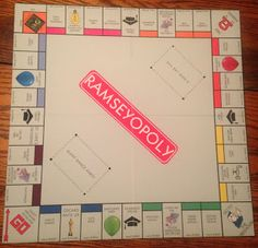 custom monopoly board template - diy personalised monopoly board game custom monopoly
