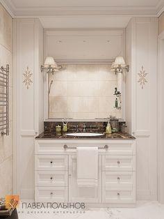Фото: Интерьер ванной комнаты - Интерьер квартиры в стиле легкой классики, ЖК «Академ-Парк», 68 кв.м.