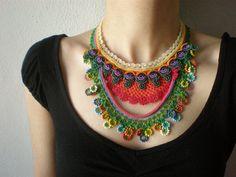 Convolvulus Erubescens ... Crochet Beaded by irregularexpressions