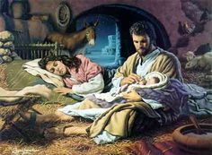 In the Hands of The Father by Roger Loveless ~ Jesus nativity ~ Holy Family Religious Pictures, Bible Pictures, Jesus Pictures, Church Pictures, Christmas Nativity, A Christmas Story, Christmas Prayer, Catholic Art, Religious Art
