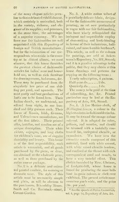 """""""Patterns of British Manufacture"""" (cont.). Ackermann's January 1812"""