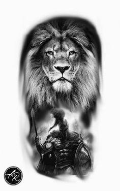 Tattoo sleeve lion tat 15 ideas - Each Wolf Tattoos, Lion Forearm Tattoos, Lion Head Tattoos, Warrior Tattoos, Animal Tattoos, Body Art Tattoos, Hand Tattoos, Gladiator Tattoo, Lion Tattoo Sleeves