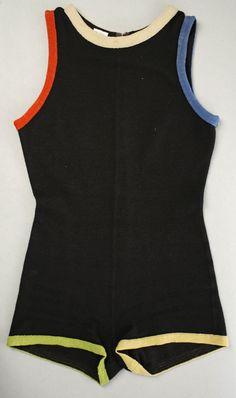 "Bathing Suit, Rudi Gernreich (American, born Austria, 1922–1985), manufactured by Harmon Knitwear (American): early 1960's, American, wool. Marking: [label] ""Rudi Gernreich Design for/Harmon Knitwear/12"""