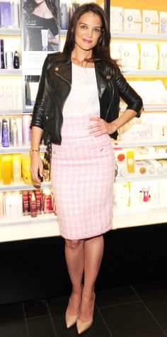 Look of the Day - October 29, 2014 - Katie Holmes from #InStyle