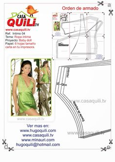 Archivo de álbumes Lingerie Patterns, Sewing Lingerie, Clothing Patterns, Sewing Patterns, Corset Tutorial, Short Satin, Intimate Ideas, Sewing Lessons, Clothing And Textile