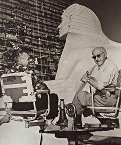 DeMille on set in Egypt
