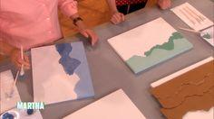 Meg Allan Cole shows how to make textured mountain-range art using cardboard.