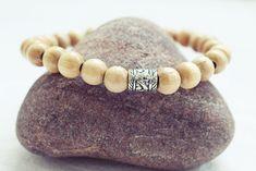 Natural Beaded Bracelet | Wood Bead Bracelet | Mens Elastic Bracelet  Simple Mens Bracelet Handmade Bracelets, Bracelets For Men, Beaded Bracelets, Colorful Bracelets, Bracelet Sizes, Men Necklace, Bracelet Designs, Anklet, Bracelet Making