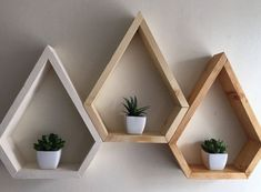 Mordern shelving geometric custom shelving 3 by Lovelifewood - wood projects projects diy projects for beginners projects ideas projects plans Custom Shelving, Modern Shelving, Rustic Shelves, Decorative Shelves, Pallet Shelving, Shelving Decor, Diy Wood Shelves, Pallet Storage, Cube Shelves
