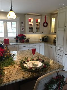 Bathroom Colors Red Sinks 25 Ideas For 2019 Kitchen Redo, New Kitchen, Kitchen Remodel, Kitchen Design, Christmas Kitchen, Christmas Home, Spode Christmas, Xmas, Beautiful Kitchens