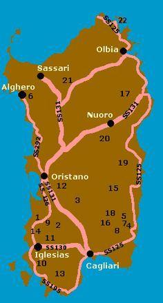 Cartina Sardegna Zona Alghero.Cartina Della Sardegna Che Illustra Le Zone Minerarie Presenti Nel Sito Sardegna Italia Sardegna Luoghi Di Vacanza
